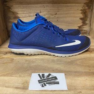 Nike free rn blue white running sneakers